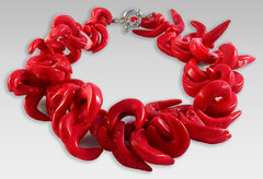 Red Coral Branch Choker Necklace