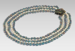 BluEarthJewelry.com - Multistrand Silver & White Pearl Necklace
