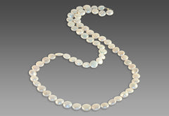 BluEarthJewelry.com - White Coin Pearl Necklace