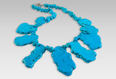 BluEarthJewelry.com - Freeform Turquoise Necklace