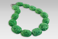 BluEarthJewelry.com - Hand Carved Chunky Turquoise Necklace