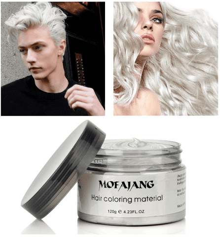 Color Hair Wax Styling Pomade Silver Grandma Grey Temporary Hair Dye Disposable Fashion Molding Coloring Mud Cream