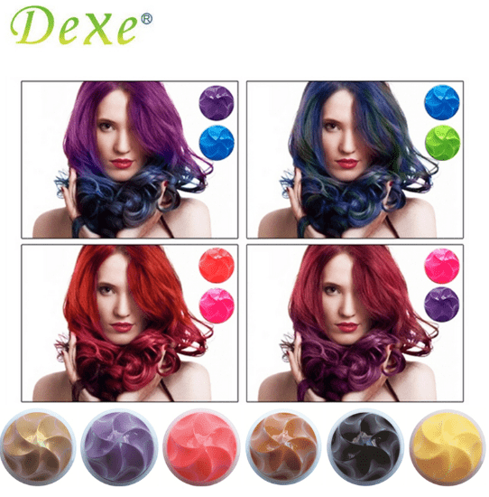 Dexe Temporary Hair Color Chalk Dye Powder DIY Hair Dye