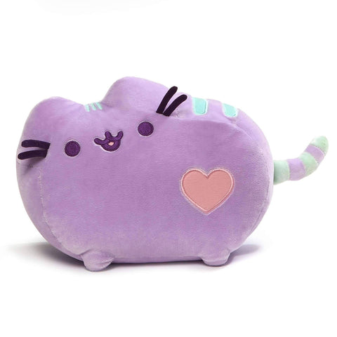 Gund Pusheen Purple Plush 12 Inches with a sparkly embroidered heart accent