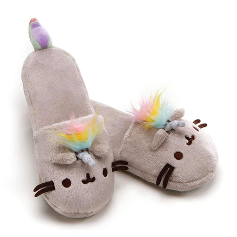 Gund Pusheenicorn Slippers 12.5 Inches (One size)