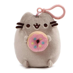 Gund Pusheen Snackable Backpack Clip Donut 5 Inches