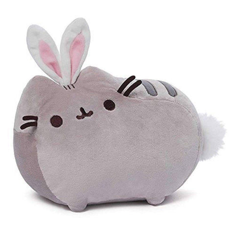 "GUND Pusheen Cat as Bunny Rabbit Plush Stuffed Animal Collectible 10"" x 7"""