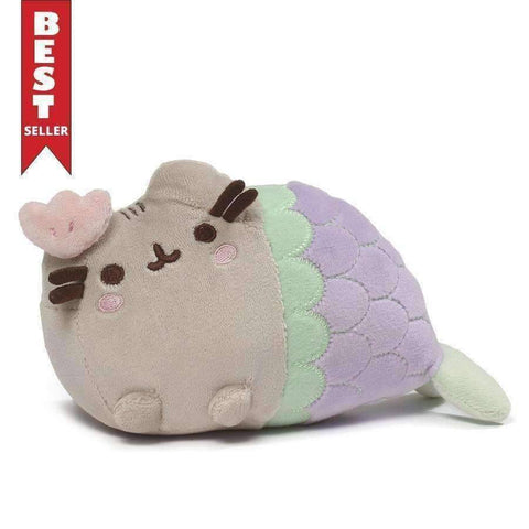 GUND Pusheen Shell Mermaid Stuffed Animal Cat Plush, 7""