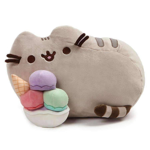 GUND Pusheen Snackable Ice Cream Sundae Stuffed Animal Plush, 12""