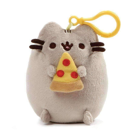 GUND Pusheen Snackable Pizza Slice Stuffed Plush Backpack Clip, 5""