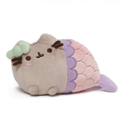 GUND Pusheen Spiral Shell Mermaid Stuffed Animal Cat Plush, 7""