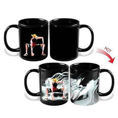 Fashion Magic Mugs One Piece Monkey D Luffy Mug Cup Ceramic Milk Coffee Tea Mugs Color Change Hot Cold Heat Sensitive Mug