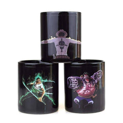 One Piece Luffy Zoro Ace Gear Fourth Hot Changing Color Heat Reactive Tea Coffee Cup Magic Ceramic Mug