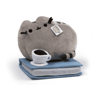 Pusheen Enjoying Coffee and a Book: B&N Exclusive