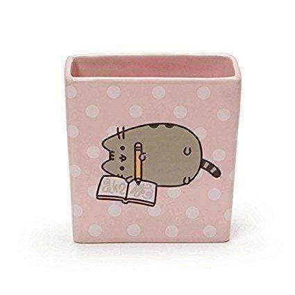 "Pusheen by Our Name is Mud ""Pusheen Pencil Holder"" Stoneware Container, 4 Inches"