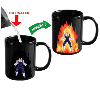 Creative Color Changing Mug 300ml Dragon Ball Z Vegeta Heat Sensitive Ceramic Drinkware For Tea Milk Coffee Mugs Cup