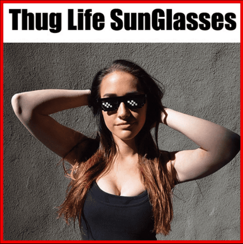 Thug Life Glasses 8 Bit Pixel - Deal With IT - Like a Boss - Shade Unisex Sunglasses