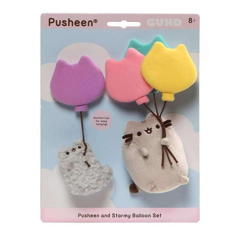 Gund Pusheen & Stormy with Balloon 8 Inches