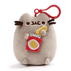 GUND Pusheen Snackable Potato Chips Stuffed Plush Backpack Clip, 5""