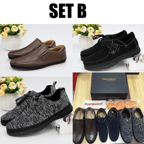 Piipiinoo Business Zipper shoes - 1 Shoe - 3 Styles - (Business | Casual | Sports) Fashion canvas shoes / Sneakers/ New type shoes - 4 Sets Available