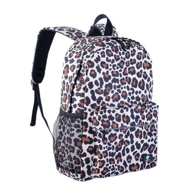 "Fenrici Recycled Laptop Backpack - 16"" - Cheetah Print"