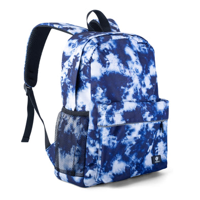 "Fenrici Recycled Laptop Backpack - 16"" - Blue Tie Dye"