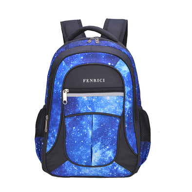 "Fenrici 16"" Laptop Backpack - Blue Galaxy"