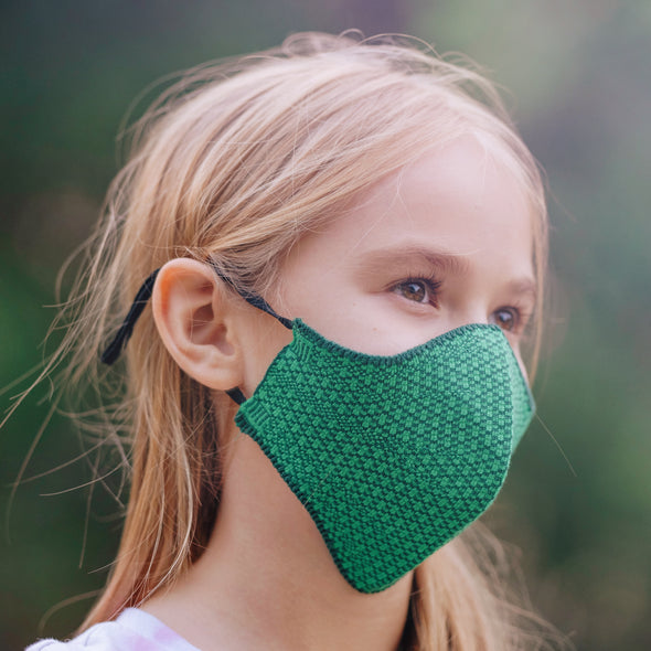 Fenrici Kids Reusable Cloth Face Mask - Green