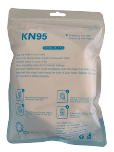 Disposable KN95 Face Masks, Non-Woven 5-Layer Disposable Mask 20 Units/Box