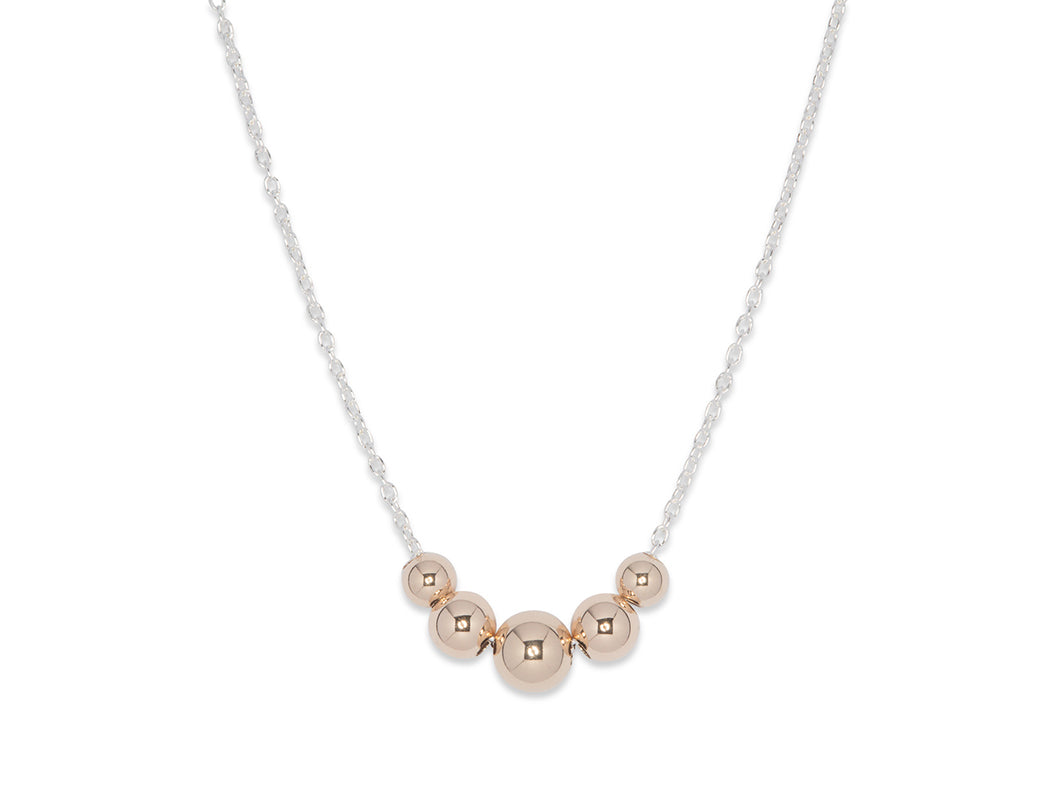 JGS Jewellery Five Ball Necklace