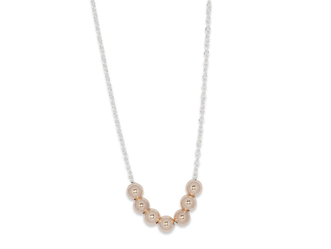 JGS Jewellery Seven Ball Necklace