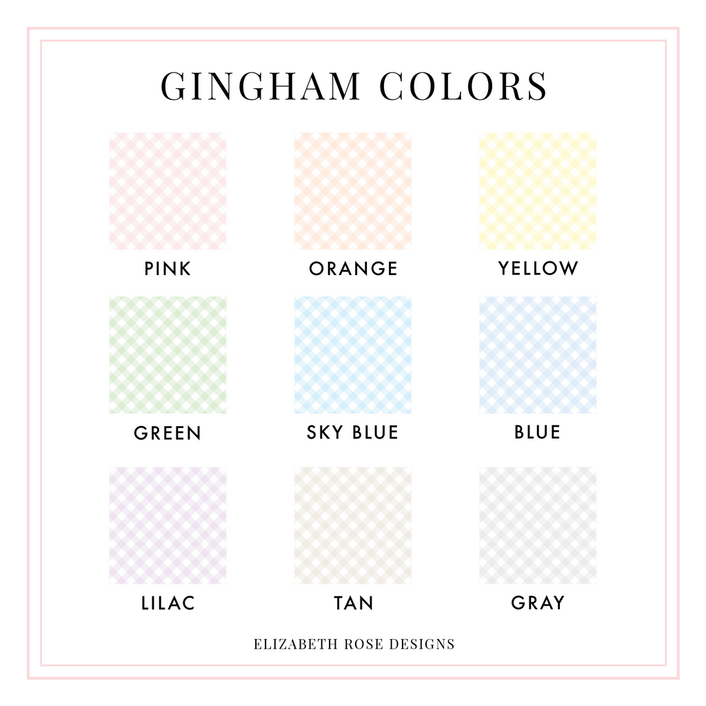 Gingham Monogram Notecard Set - Elizabeth Rose Designs - Monograms, Stationery, & Personalized Gifts