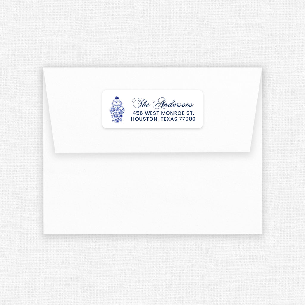 Ginger Jar | Address Labels - Elizabeth Rose Designs - Monograms, Stationery, & Personalized Gifts
