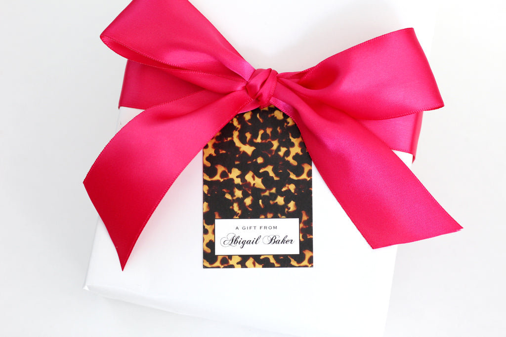 Tortoise Shell Gift Tags - Elizabeth Rose Designs - Monograms, Stationery, & Personalized Gifts