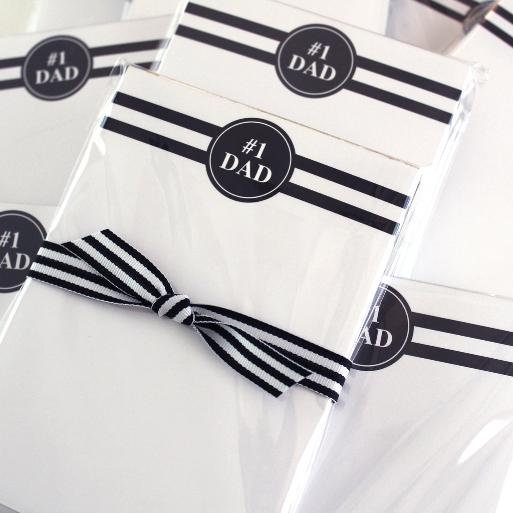 #1 Dad Notepad - Elizabeth Rose Designs - Monograms, Stationery, & Personalized Gifts