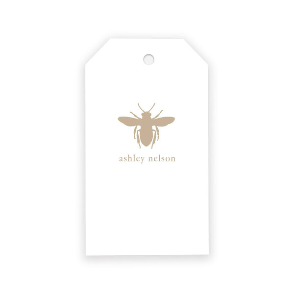 Antique Bee Gift Tags - Elizabeth Rose Designs - Monograms, Stationery, & Personalized Gifts