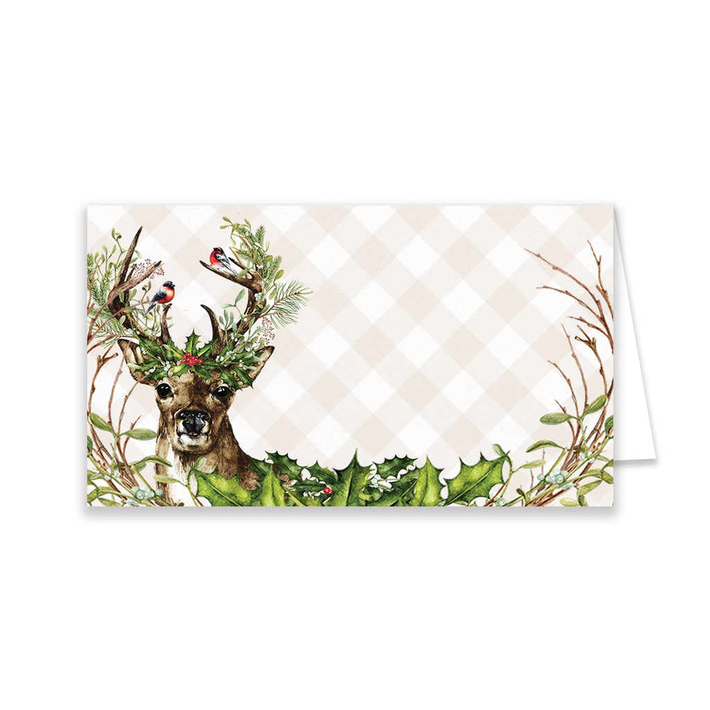 Christmas Deer Place Cards - Elizabeth Rose Designs - Monograms, Stationery, & Personalized Gifts