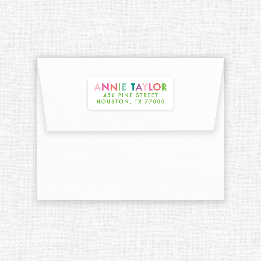 Colorful | Address Labels - Elizabeth Rose Designs - Monograms, Stationery, & Personalized Gifts