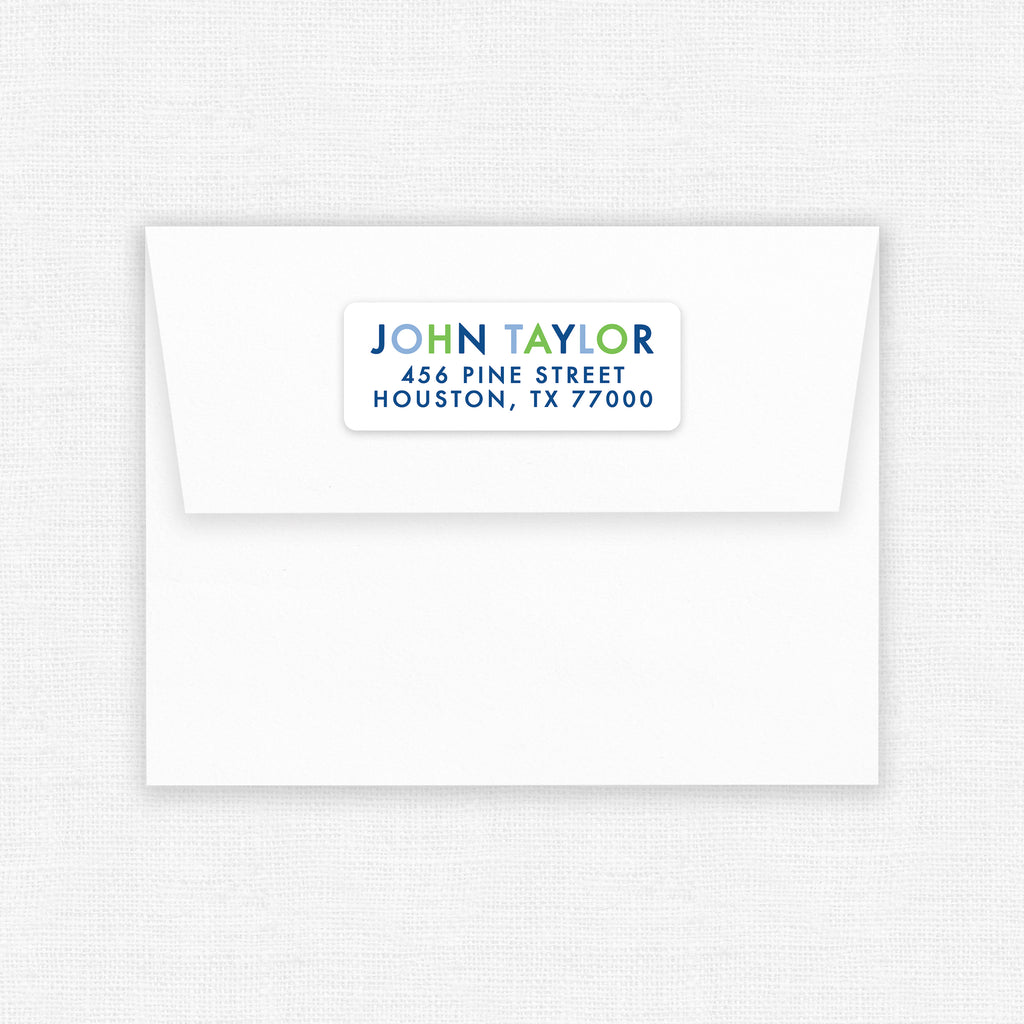 Blue & Green | Address Labels - Elizabeth Rose Designs - Monograms, Stationery, & Personalized Gifts