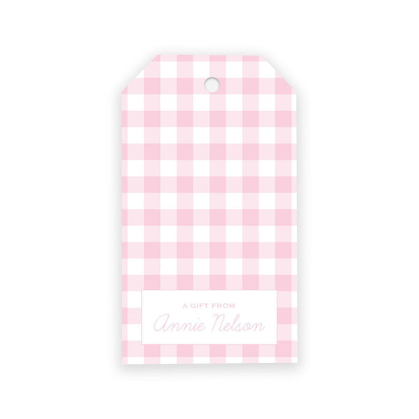 Gingham Gift Tags - Elizabeth Rose Designs - Monograms, Stationery, & Personalized Gifts