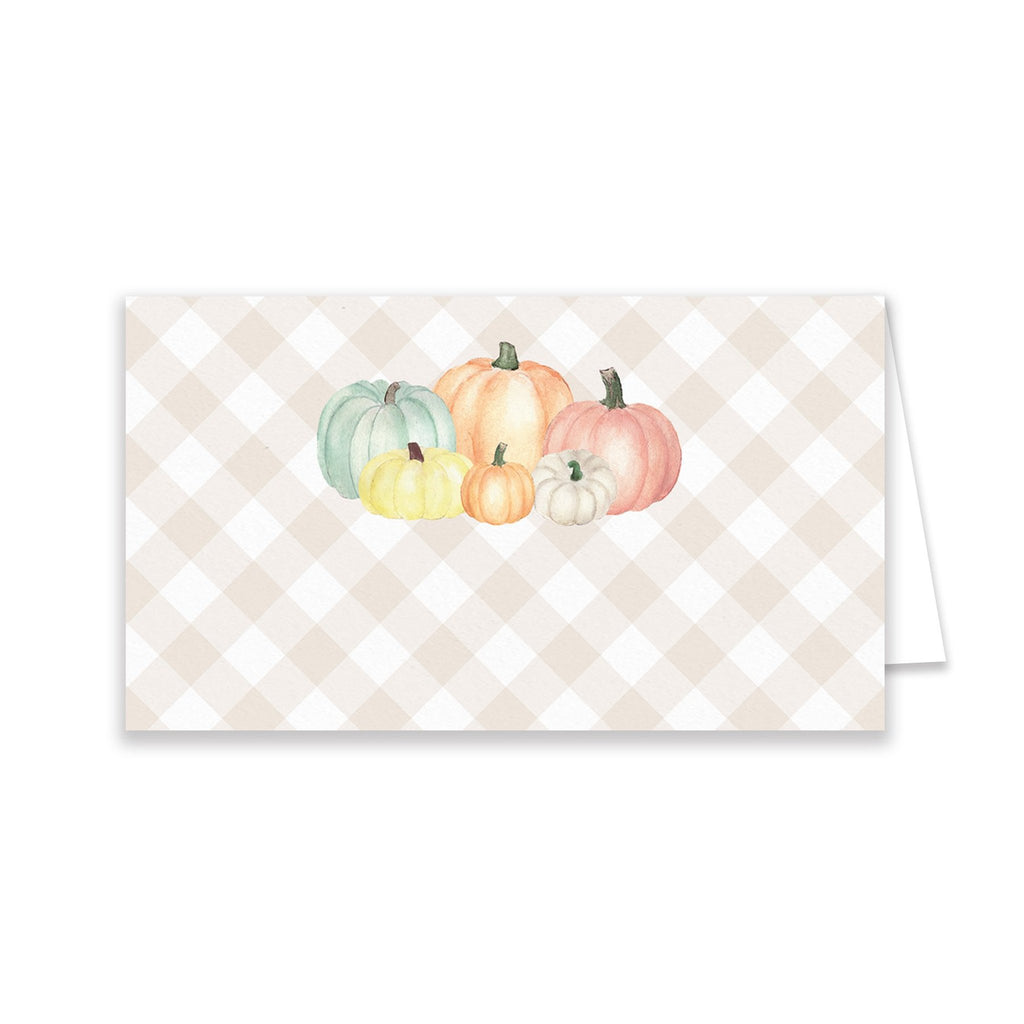 Pastel Pumpkin Place Cards - Elizabeth Rose Designs - Monograms, Stationery, & Personalized Gifts