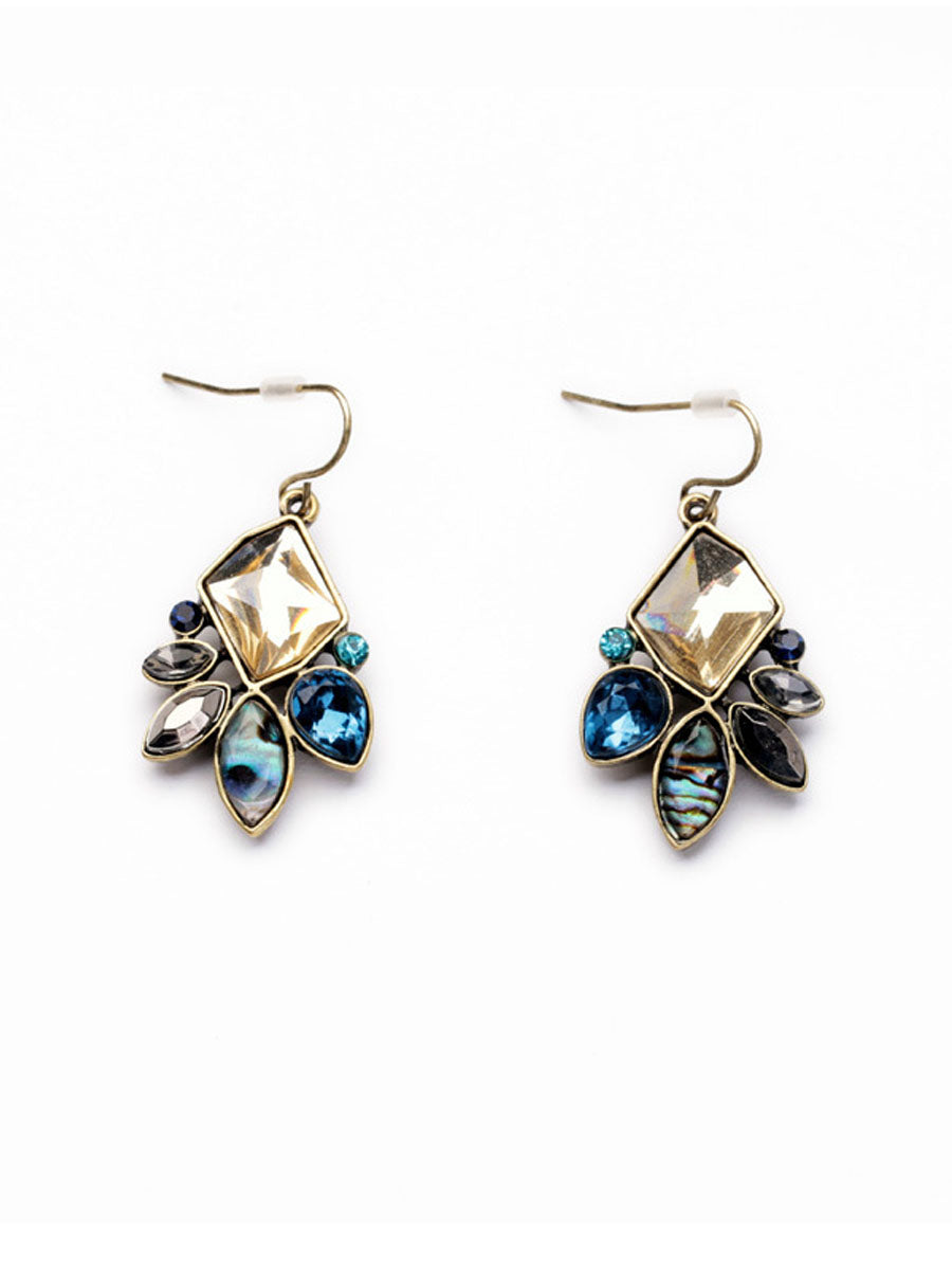 Drop Crystal Boho Earrings