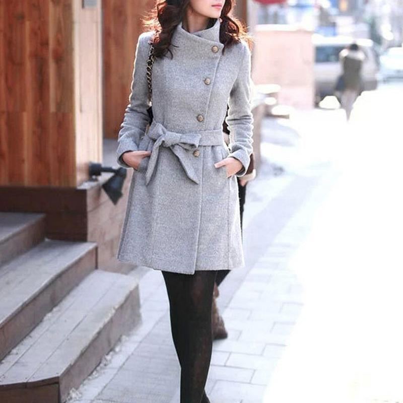 Long Slim Fur Women Coat