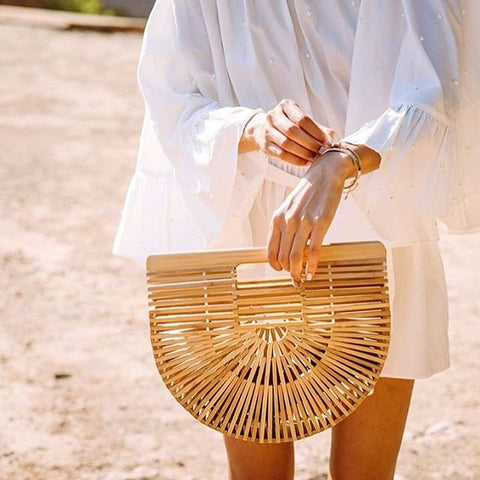 Stylish Holiday Style Bamboo Beach Handbag