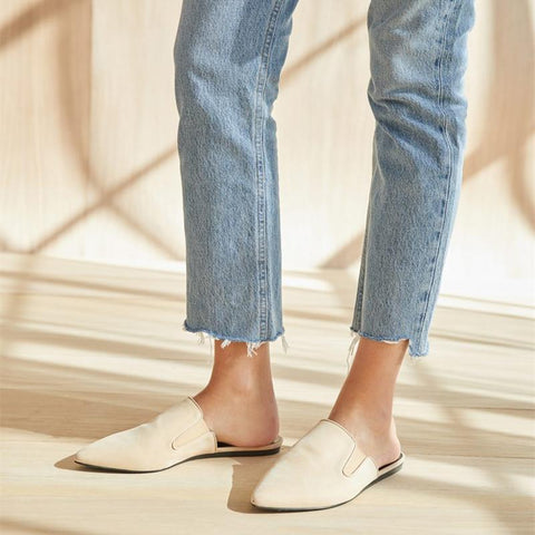 2019 Simple lightweight synthetic leather mules