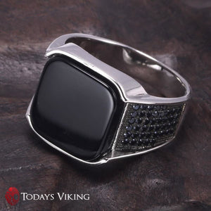 925 Sterling Silver Antique Viking Ring