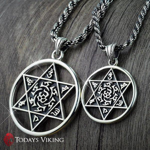925 Sterling Silver Hexagram Pendant Necklace