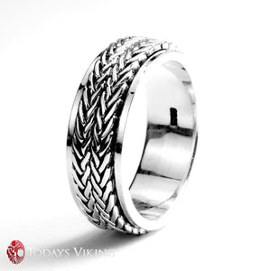 925 Sterling Silver Jewelry Handmade Rotatable Ring