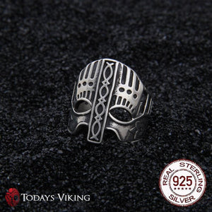 925 Sterling Silver Viking Helmet Ring