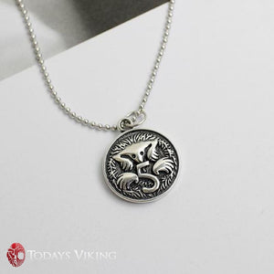 925 Sterling Silver Vintage Dollar Coin Pendant Necklace
